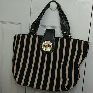 Kate Spade Turnlock Striped Bag